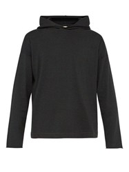 Massimo Alba Cotton And Cashmere Blend Hooded Sweatshirt Charcoal