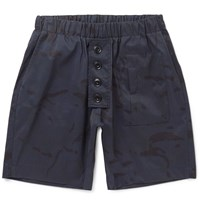 Albam Camouflage Print Shell Ripstop Shorts Blue
