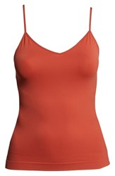 Halogen Plus Size Seamless Two Way Camisole Rust Spice