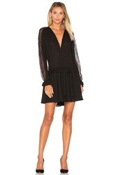 Lucy Paris Tricia Button Up Dress Black