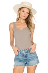 Leo And Sage Rib Fitted Tank Taupe