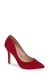 Charles By Charles David Maxx Pointy Toe Pump Scarlet Suede