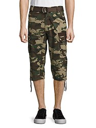 Xray Jeans Belted Cargo Pants Khaki Camo
