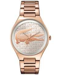Lacoste Women's Valencia Rose Gold Tone Ion Plated Stainless Steel Bracelet Watch 38Mm 2000929