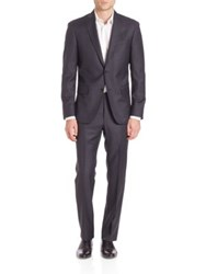 Saks Fifth Avenue Solid Wool Suit Dark Grey