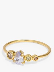 Madewell Crystal Ring Gold Multi