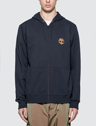 Timberland Core Tree Logo Zip Up Hoodie Blue