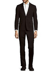 Kenneth Cole Solid Wool Blend Suit Black