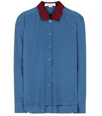 Stella Mccartney Silk Shirt Blue