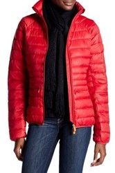 Save The Duck Giga Quilted Jacket Red