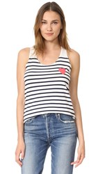 Sundry Heart Tank Top Navy