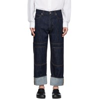 J.W.Anderson Jw Anderson Indigo Patched Jeans
