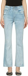 Helmut Lang Blue High Rise Crop Jeans