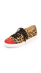 Charlotte Olympia Kiss Me Sneakers Leopard