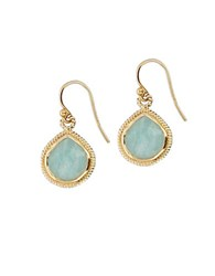 Chan Luu 18K Gold Plated Sterling Silver Drop Earrings Blue