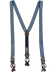 Hackett Striped Braces Blue