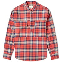 Fear Of God Plaid Pullover Henley Red
