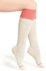 Women's Urban Knit Moss Welt Wool Blend Knee Socks
