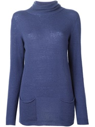 Woolrich 'Renoir' Roll Neck Sweater Blue