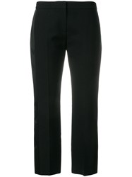 Alexander Mcqueen Cropped Trousers Wool Silk Polyamide Cupro Black