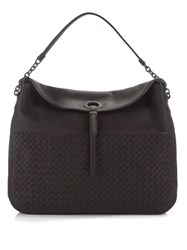 Bottega Veneta Hobo Intrecciato Leather Tote Dark Brown
