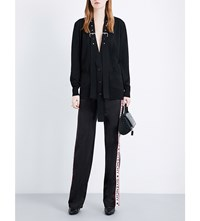 Givenchy Strapped Wool And Silk Blend Cardigan Blk
