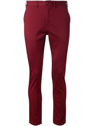 Fadeless Cropped Chino Trousers Red