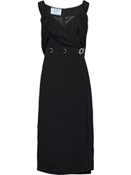 Prada Ring Detail Sheath Dress 60