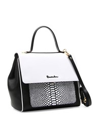 Braccialini Chiara Leather Satchel White
