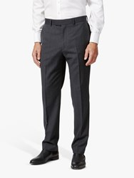 Chester Barrie By Herringbone Wool Cashmere Tailored Suit Trousers Charcoal