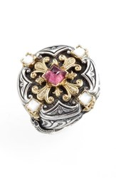Konstantino Women's Statement Ring Pearl Pink Tourmaline