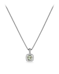 Petite Albion Pendant With Prasiolite And Diamonds On Chain David Yurman
