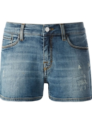 Victoria Beckham Faded Jean Shorts Blue