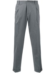 Dolce And Gabbana Tailored Trousers Men Cotton 48 Grey