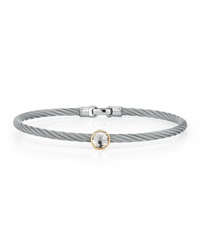 Alor Stainless Steel And Topaz Cable Bracelet 18Kt Yg