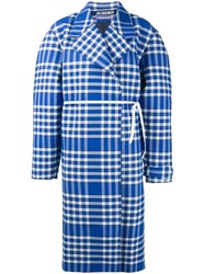 Jacquemus Oversized Checked Coat Blue