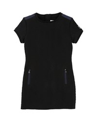Karl Lagerfeld Quilted Dress W Zip Pockets Size 4 5 Black