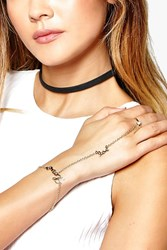 Boohoo Love Ring Hand Harness Gold