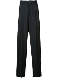 Icosae Pleated Detail Trousers Blue