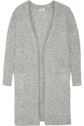 Acne Studios Raya Oversized Knitted Cardigan Gray