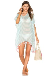 Seafolly Linen Block Stripe Kaftan Blue