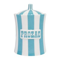 Jonathan Adler Vice Canister Prozac Light Blue White