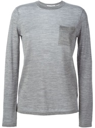 Alexander Wang Patch Pocket Sweater Grey