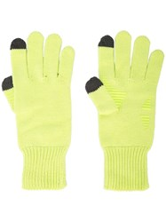 Opening Ceremony Logo Knit Gloves Yellow