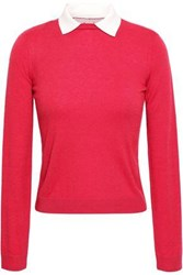 Red Valentino Redvalentino Woman Lace Trimmed Cashmere And Silk Blend Sweater