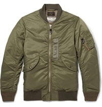 Beams Plus Ma 1 Shell Down Bomber Jacket Green
