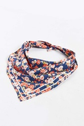 Urban Outfitters Ditsy Floral Bandana Navy