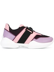 Versace Medusa Band Sneakers Pink And Purple