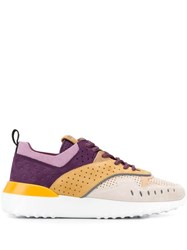 Tod's Colour Block Low Top Sneakers Neutrals