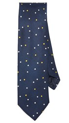 Jack Spade Galaxy Dot Tie Navy Yellow